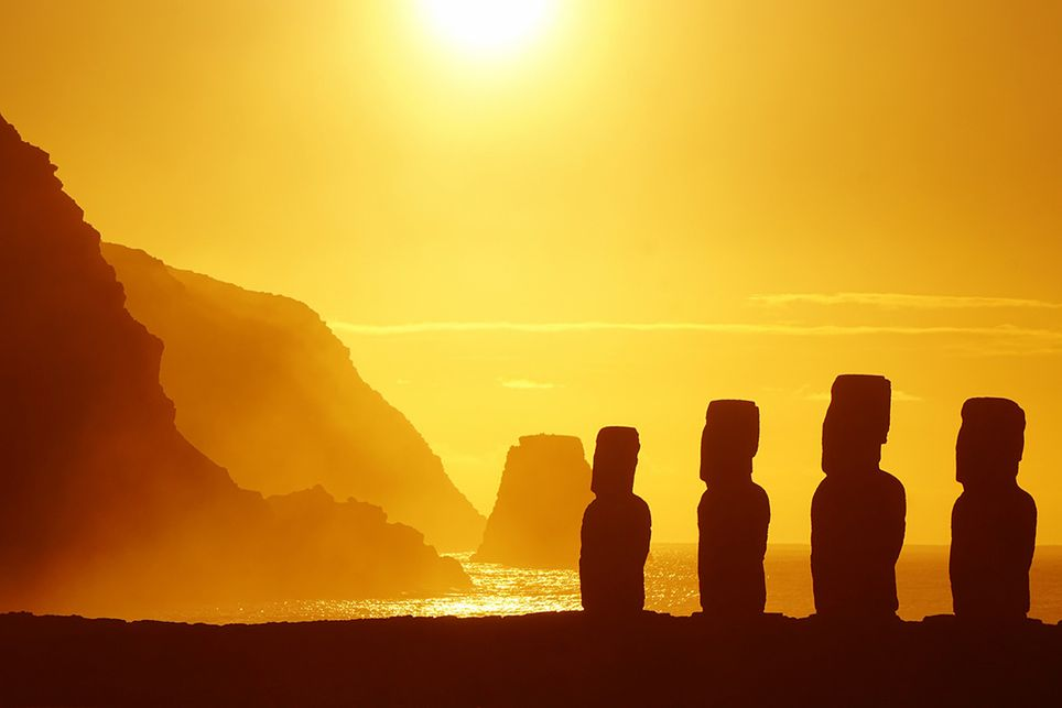 Moai auf der Osterinsel sind bedroht - Klimawandel