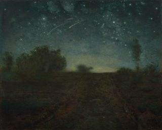 Noche estrellada en un cuadro de Jean-Francois Millet