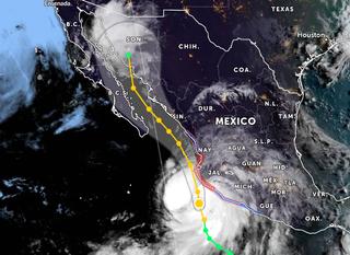 Nora: peligroso huracán se acerca a las costas de México del Pacífico