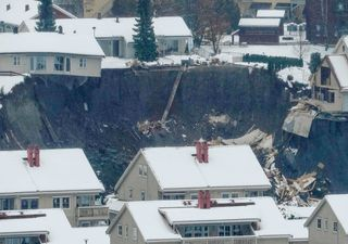Una montaña colapsa y sepulta parte de un pueblo en Noruega