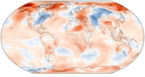 Noviembre 2019: La tendencia del calentamiento continúa