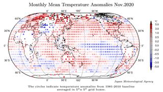 Noviembre 2020: segundo mes más cálido a nivel global, según JMA