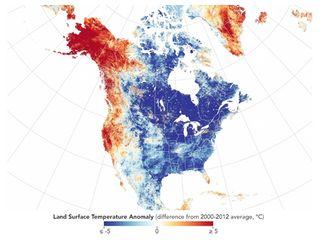 Noviembre frío en América del Norte, pero cálido en otras zonas