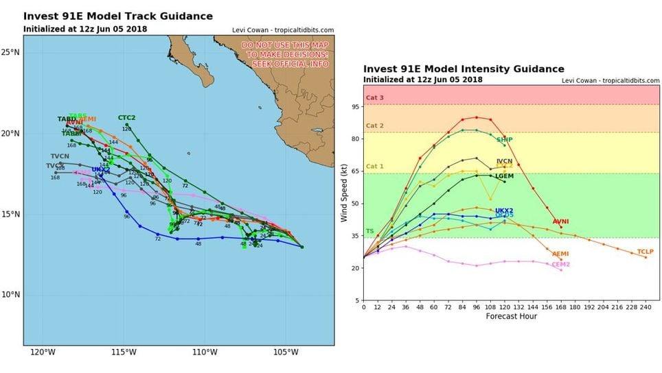 La tormenta tropical Aletta se forma en el Océano Pacífico