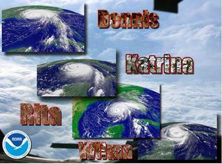 Nuevo record en la estación de huracanes 2005: cinco nombres retirados