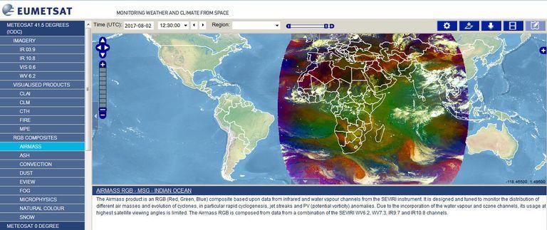 Nuevo Servicio Msg De Cobertura De Datos Del Océano índico: Visualizaciones Rgb