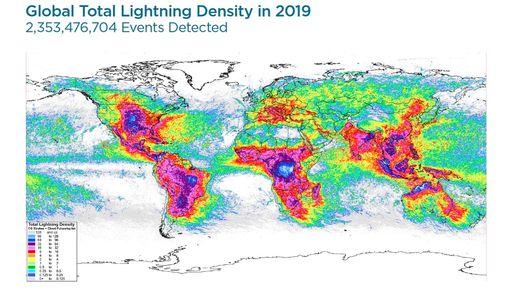 Nuevos mapas globales de descargas eléctricas de 2019