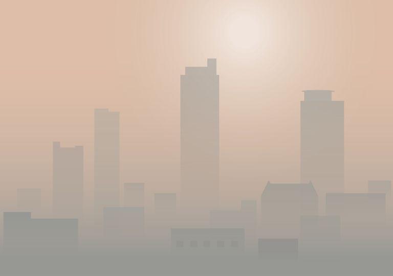 smog cidades populosas poluição aerossóis co2 aquecimento arrefecimento global clima alterações