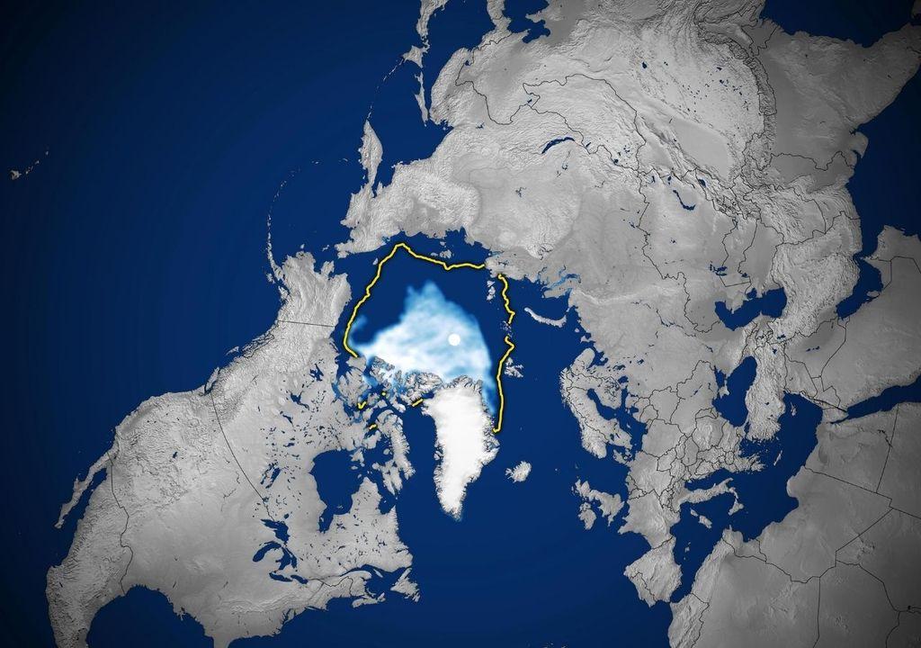 Cobertura de gelo no Ártico