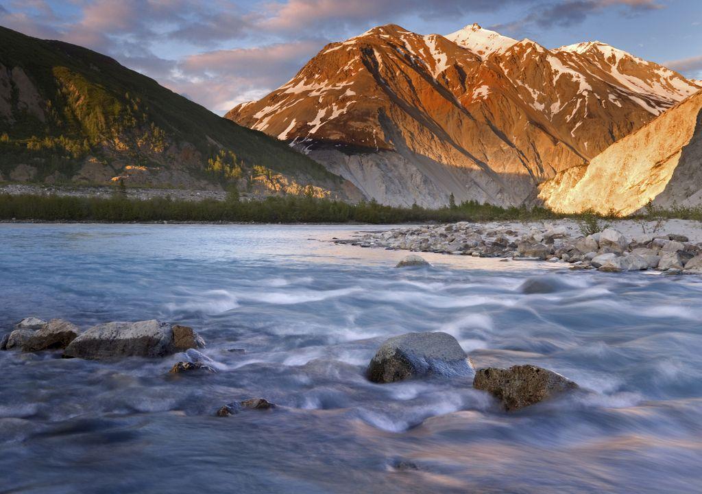 Rio Alsek; Alaska; degelo