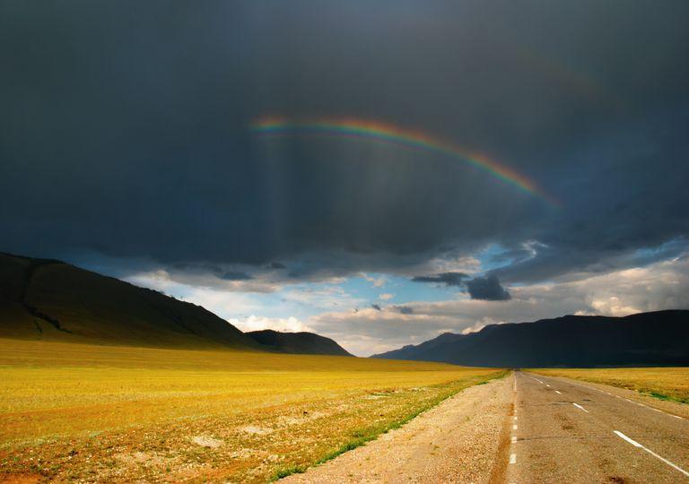 nuvens trovoada; arco-íris; abril águas mil