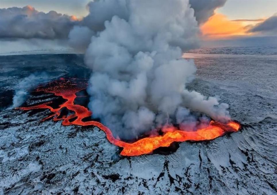 O vulcão como fonte natural de poluição