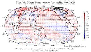 Octubre 2020 a nivel global: el cuarto más cálido, según JMA