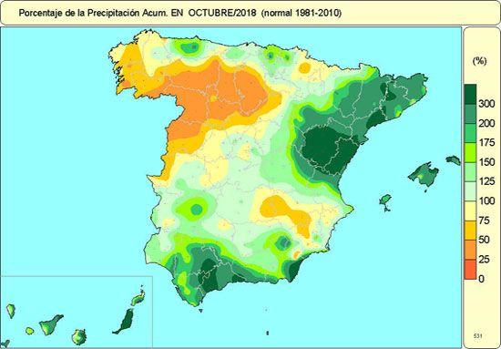 Octubre De 2018 En Espana Normal En Cuanto A Temperaturas Y Humedo
