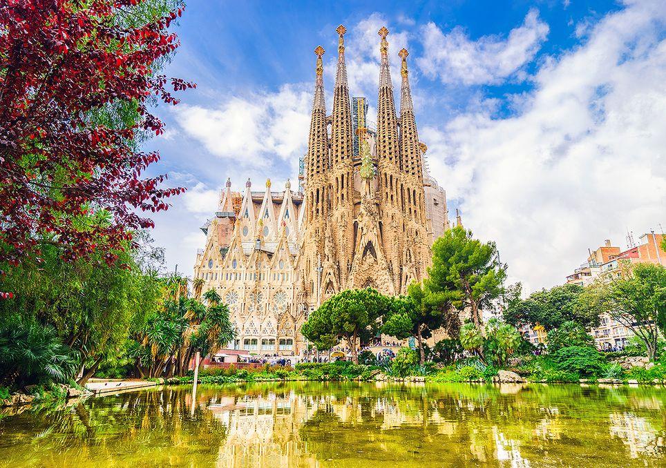 La Sagrada Familia de Barcelona, España.