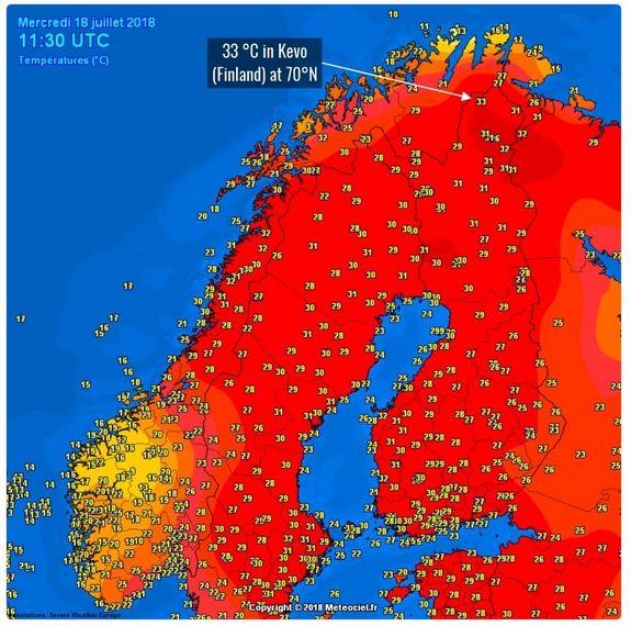 Ola De Calor, Sequía E Incendios En Escandinavia