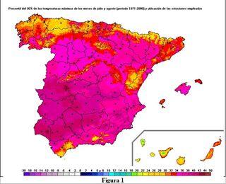 Olas de calor en España desde 1975. Parte I