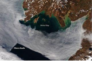 Ondas nubosas sobre la Bahía de Bristol