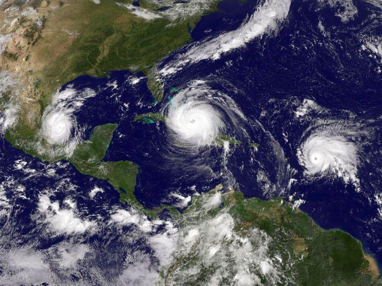 Tres ciclones mayores afectando el Caribe en 2018