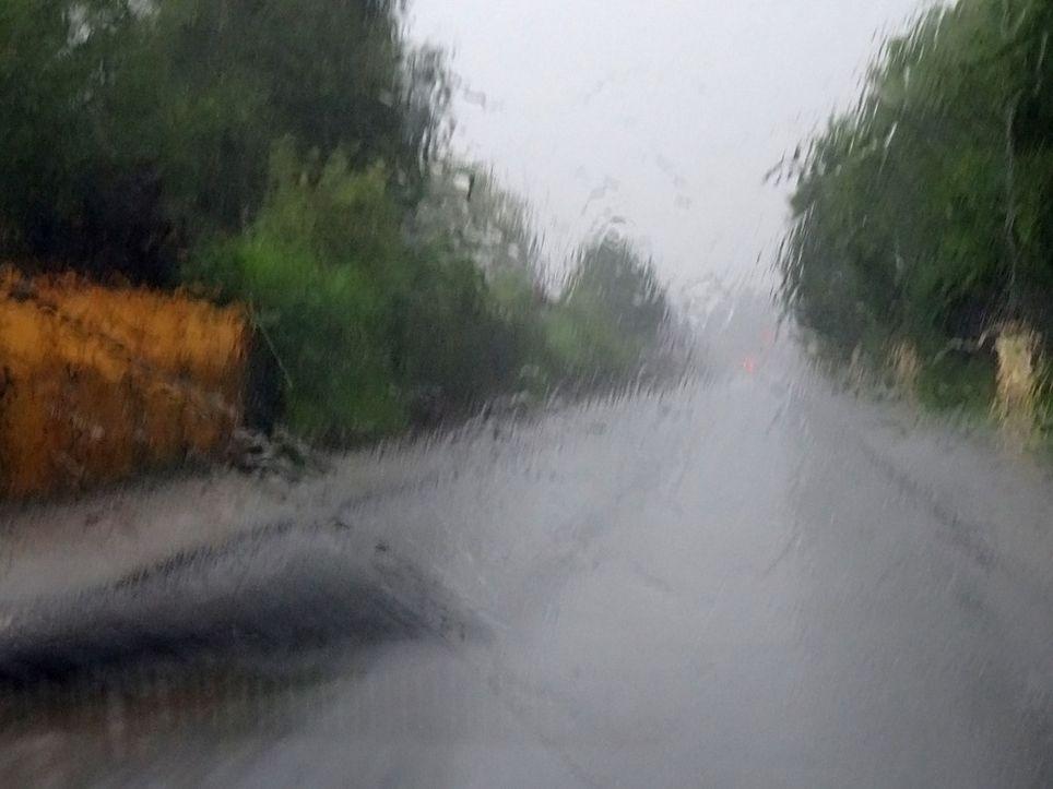 Sturzregen in Spanien