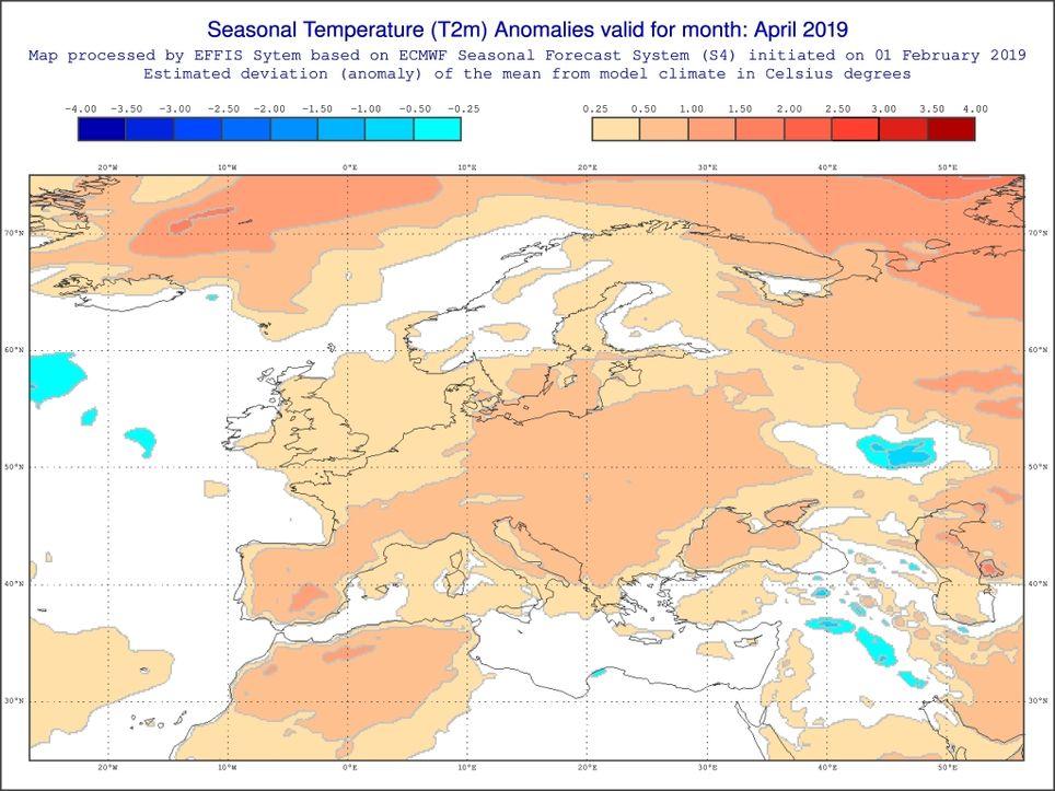 April wärmer als normal
