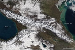 Paisajes nevados del invierno en Rusia
