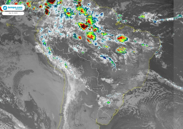 Imagens de satélite infravermelho