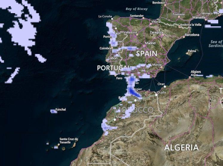 Paso De Un Tren De Borrascas Por El Sur: Temporal De Viento, Lluvia Y Marítimo