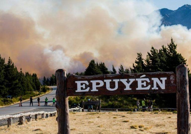 Incendios Chubut altas temperaturas récord