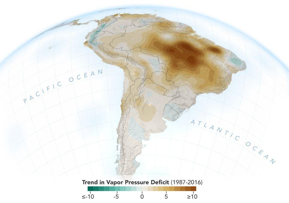 nasa,aufnahme,amazonas,dürre,brände,regenwald,klimawandel