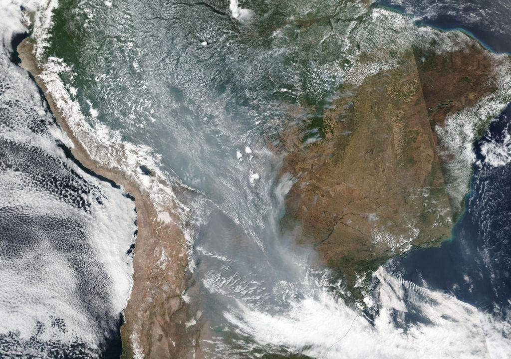 Fumaça incêndios Brasil, amazônia, pantanal