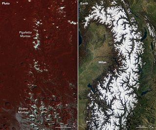 Picos nevados y helados con orígenes muy diferentes