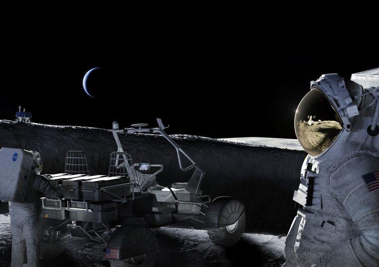 Mujer a la Luna Artemis