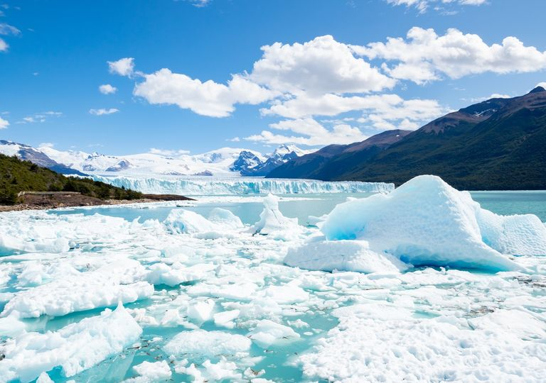 Glaciar de la Antártida descongelado