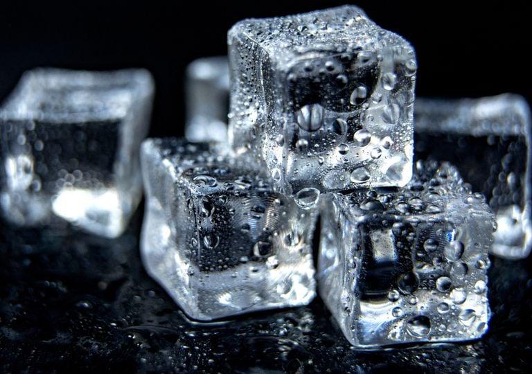hielo, calor, congelar, experimento