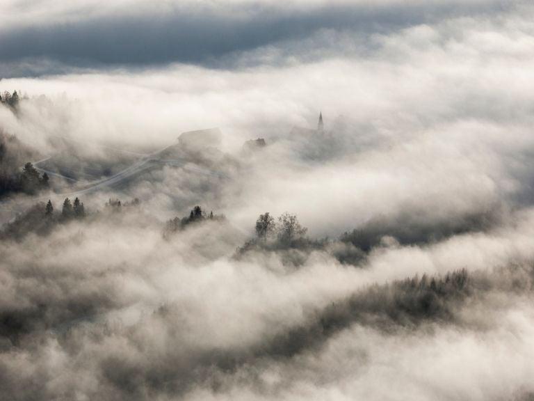 Niebla desde el aire