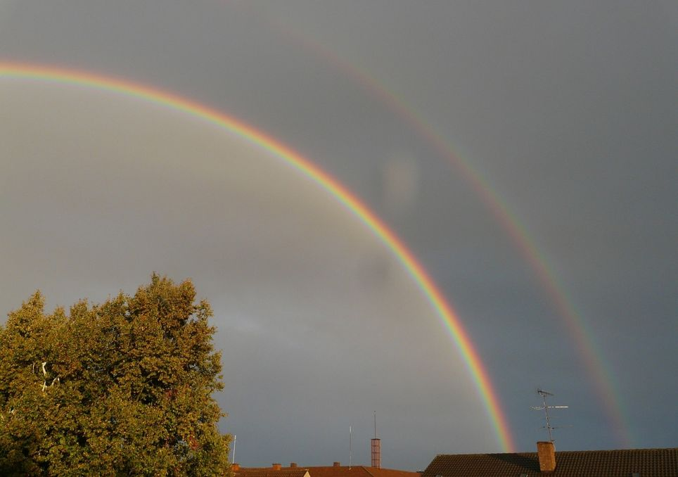 arco iris buenos aires optica rayos doble meteorologia