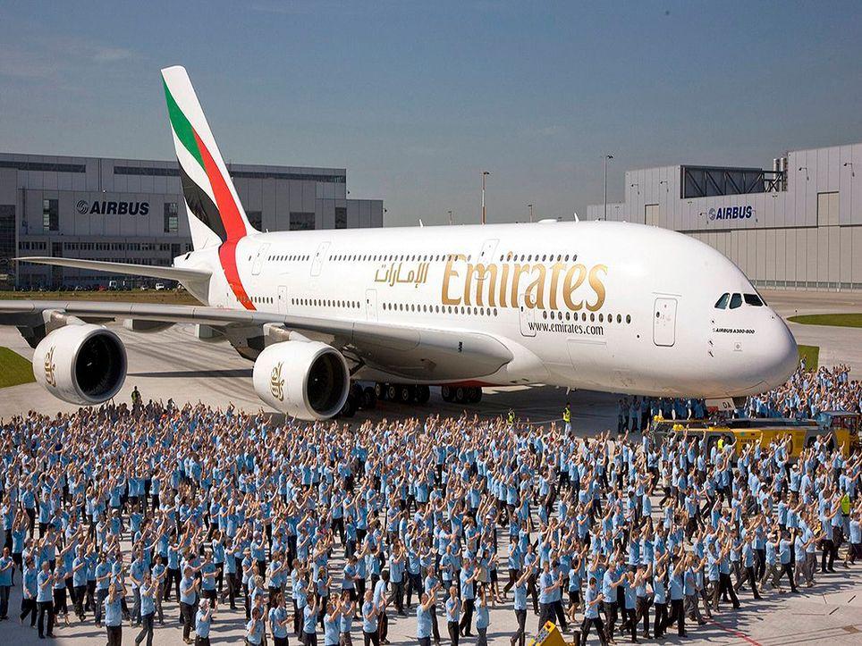 El avión Airbus A380.
