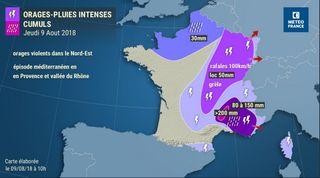 Precipitaciones intensas en zonas de Francia