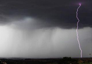 Previsão de chuva forte com granizo no Centro-Sul do país