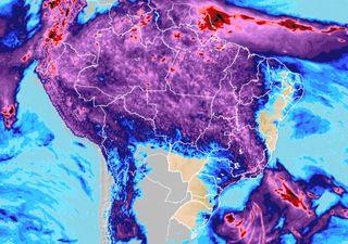 Previsão de continuidade das ZCAS e das chuvas no Norte e leste do Sul