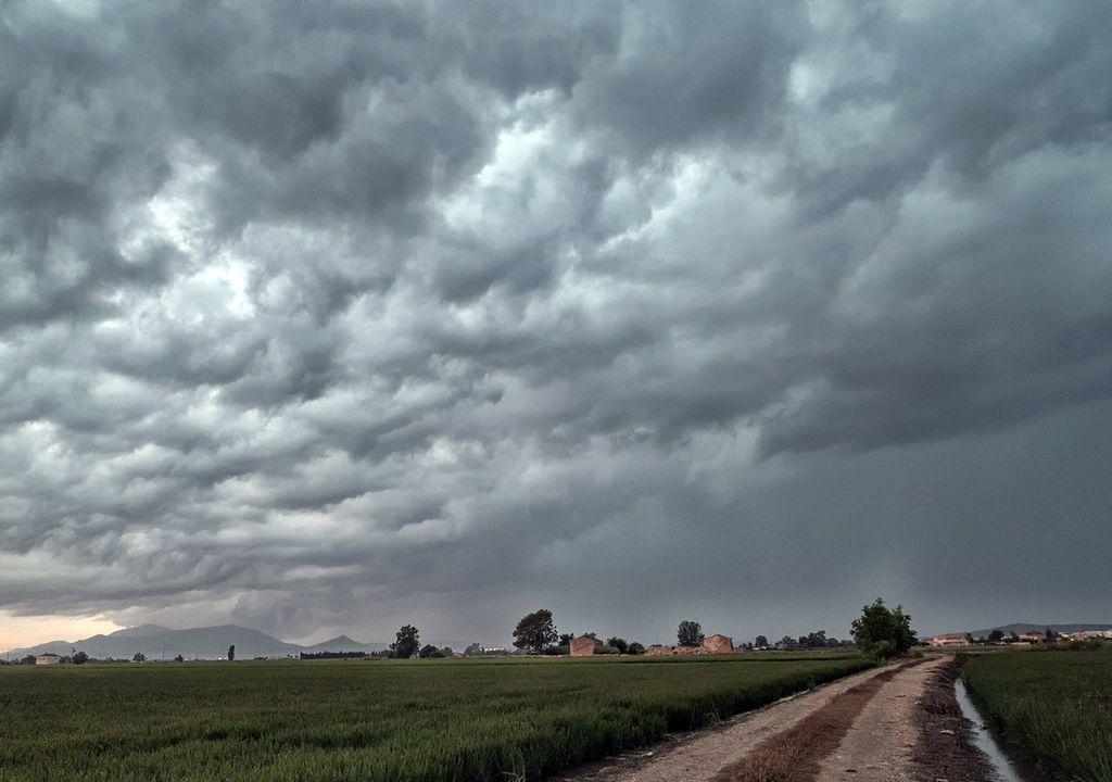 Tormenta en el Delta del Ebro