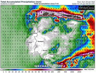 Primer aviso especial del año por temporal de nieve, lluvia, viento y mar