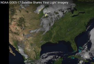 Primeras imágenes de descargas eléctricas del GOES-17