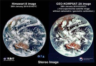 Primeras imágenes del satélite geoestacionario surcoreano