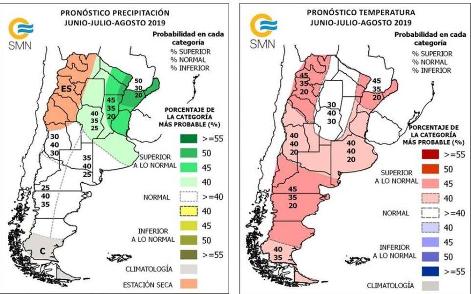 Pronostico climático trimestral Argentina SMN