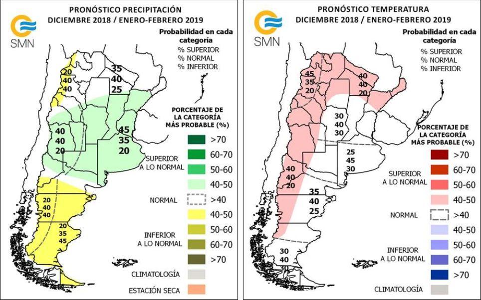 Pronostico climatico trimestral Argentina