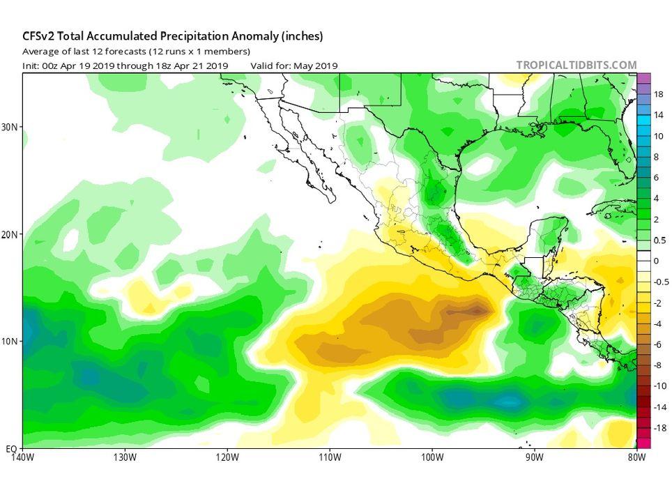Modelo CFSv2 de precipitaciones