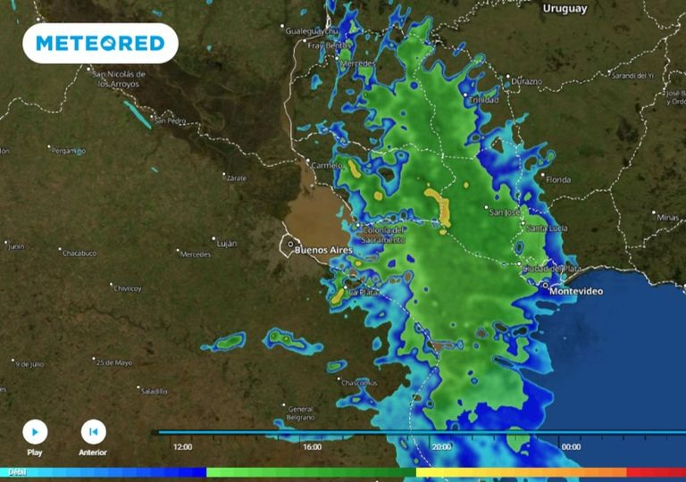 Alerta tormentas fuertes radar meteored argentina