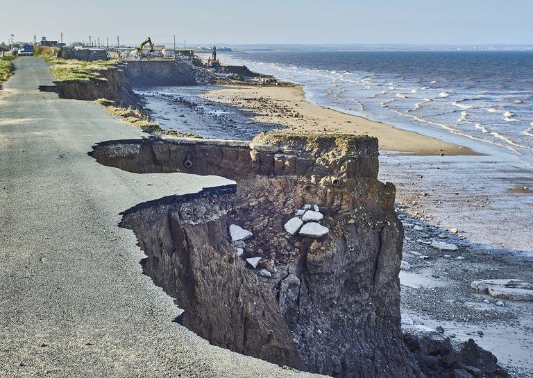 Erosión costera por evento extremo